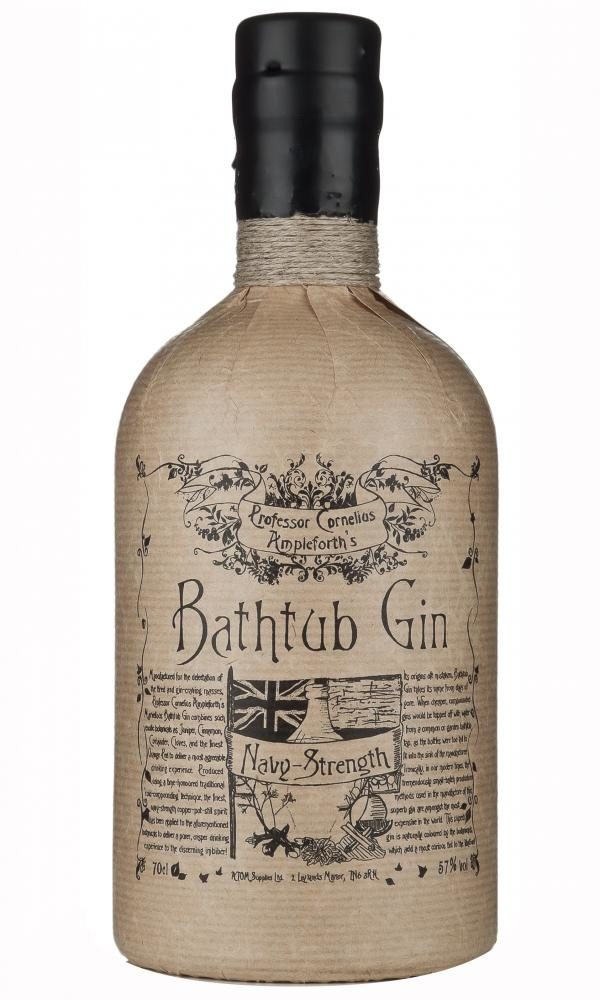 Bathtub Navy Strength Gin FL 70