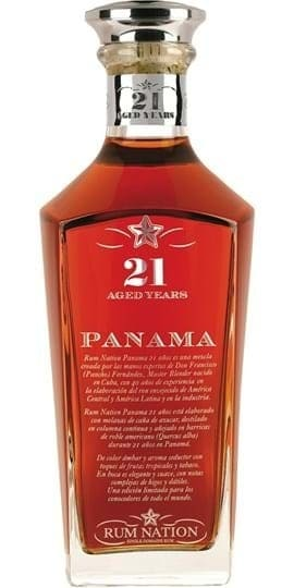 Rum Nation Panama 21 YO Decanter FL 70